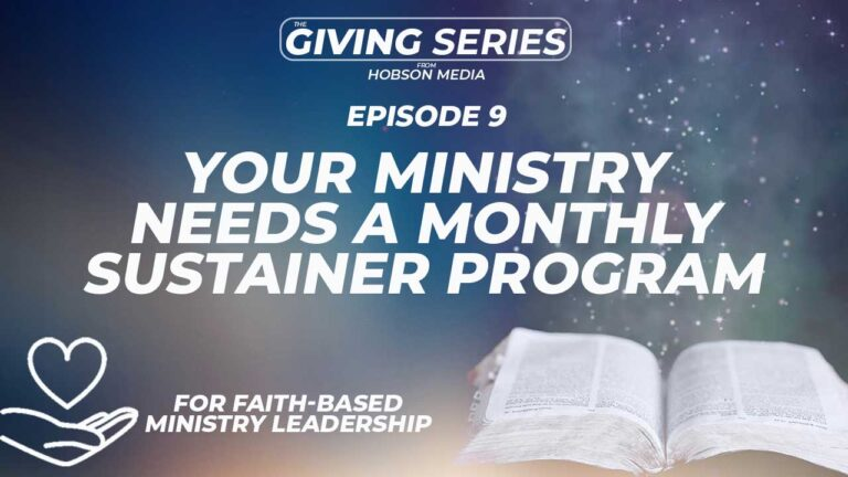 Building A Monthly Sustainer Program For Your Ministry